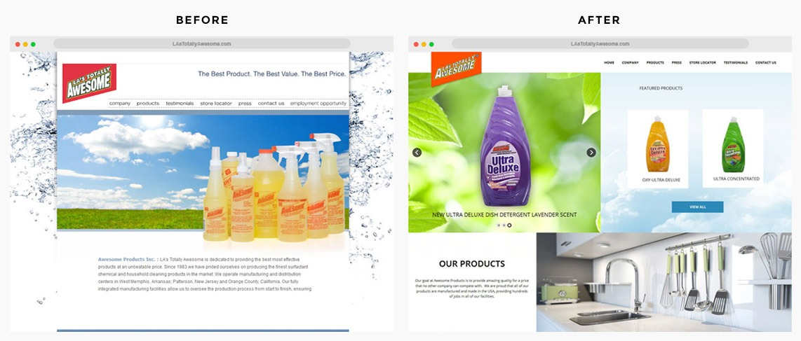 Orange County Cleaning Products Web Designer