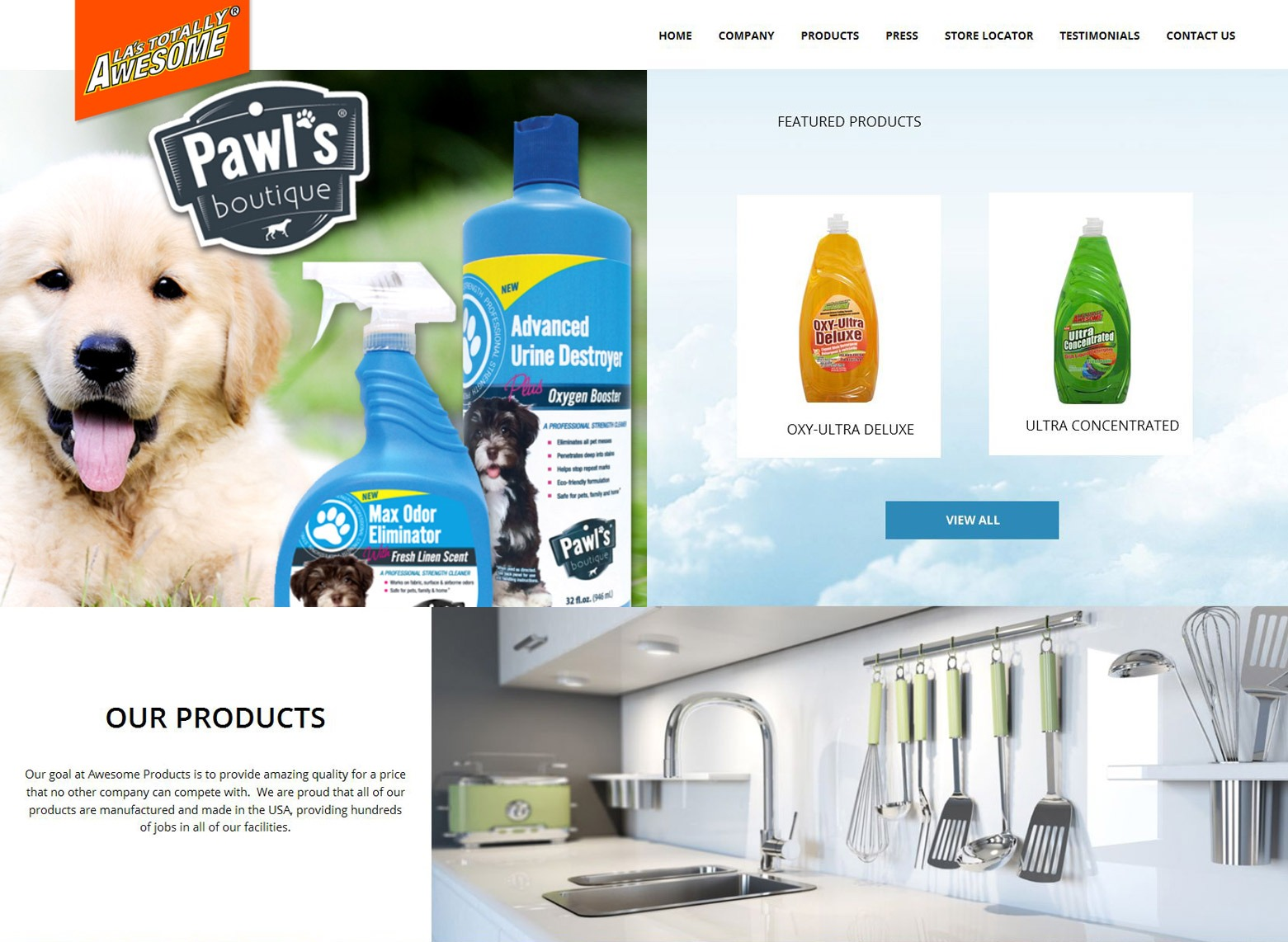 LA Angeles Cleaning Products Web Design Company