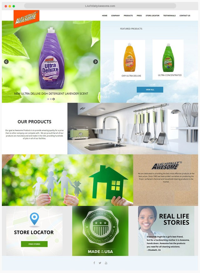 Ventura County Cleaning Products Web Design Company