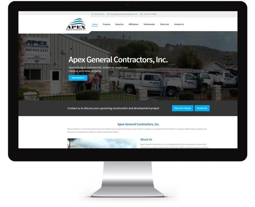 Orange County Construction Web Design Company