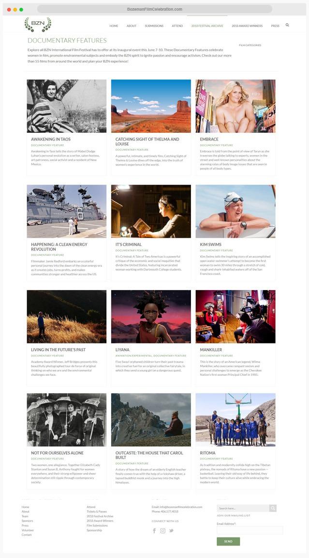 California Film Festival Web Design Company