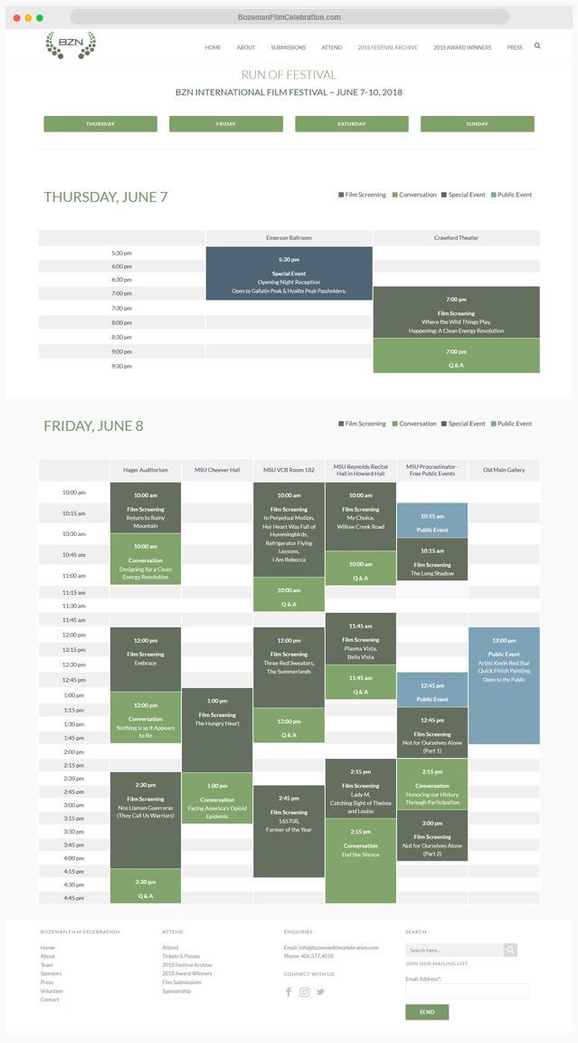 New York Film Festival Web Design Company