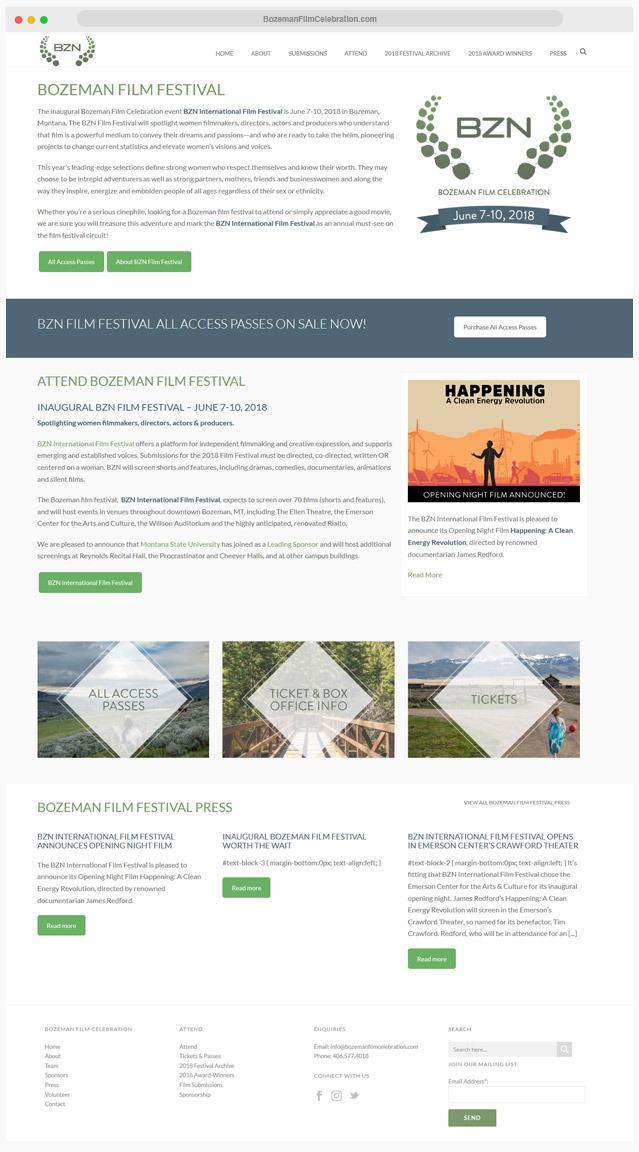 Colorado Film Festival Web Design Company