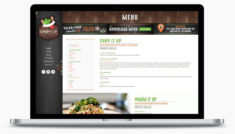 Orange County Restaurant Web Designer