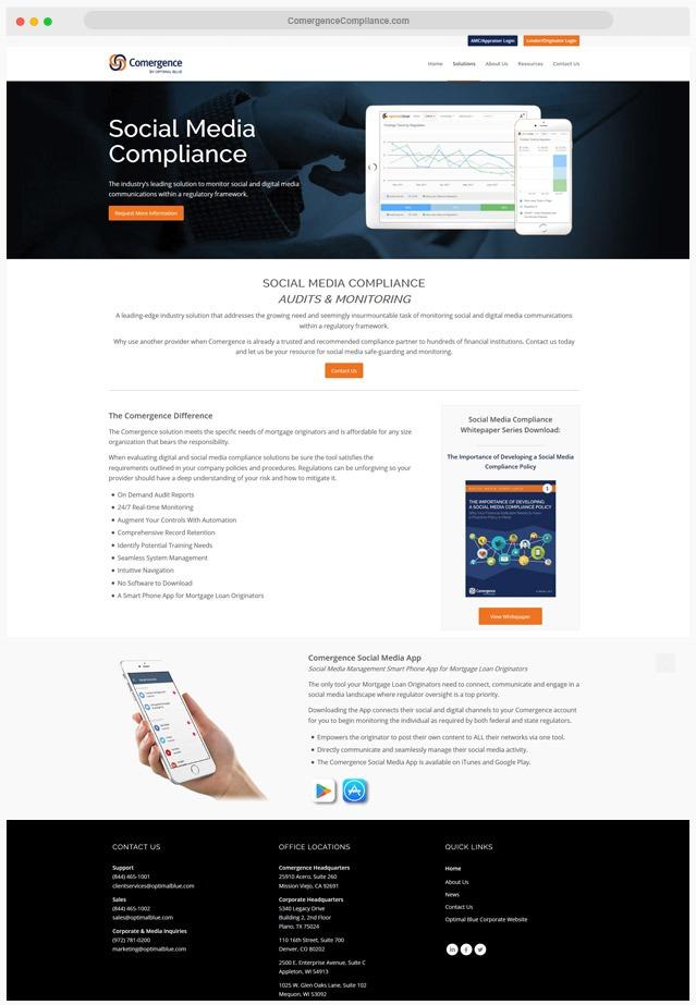 Mortgage Compliance Website Company