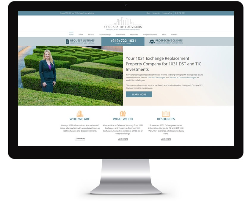 Real Estate Company Web Design