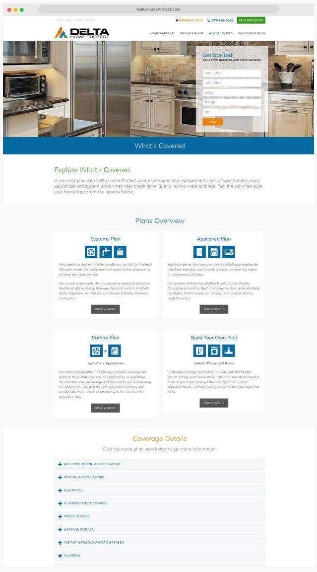 Home Warranty Web Designer