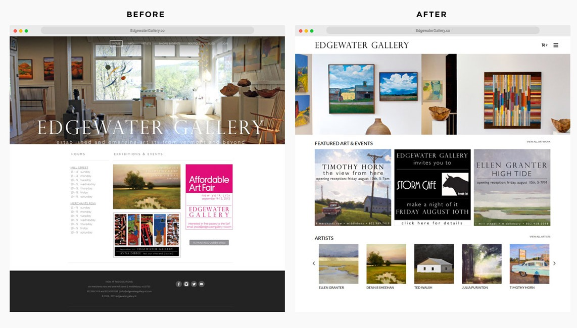 Orange County Art Gallery Web Designer