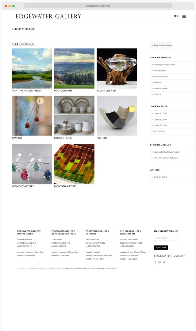 Ventura County Art Gallery Web Design Company
