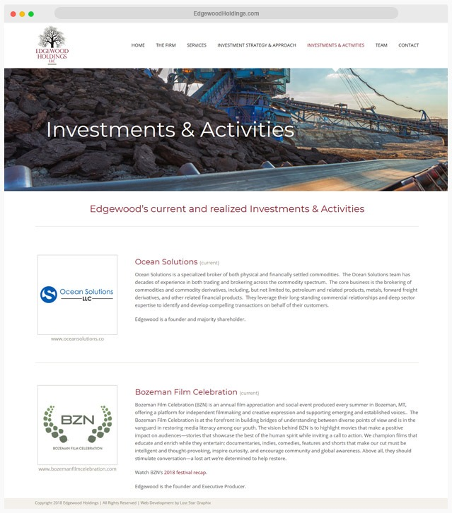Ventura County Private Equity Firm Web Design Company