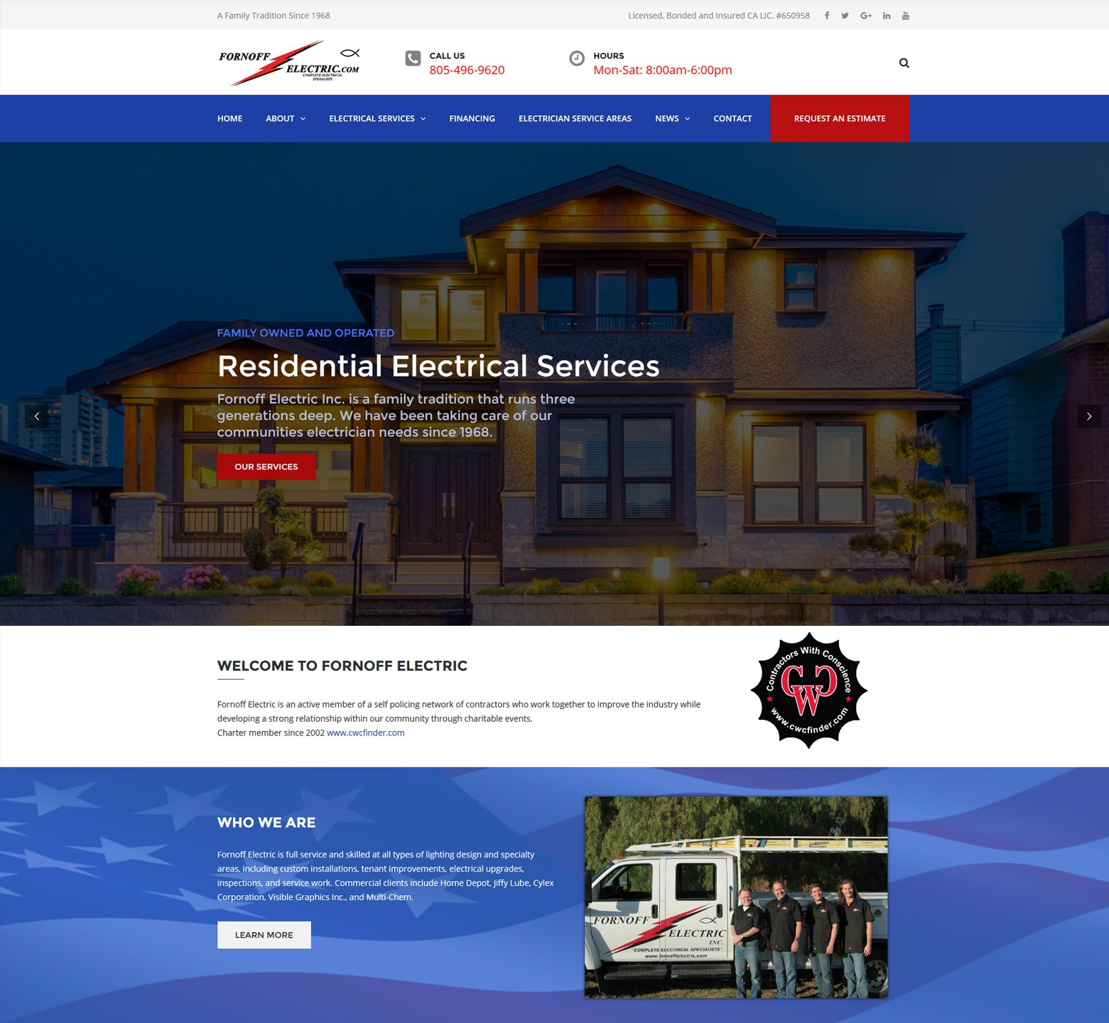 LA Angeles Electric Company Web Design Company