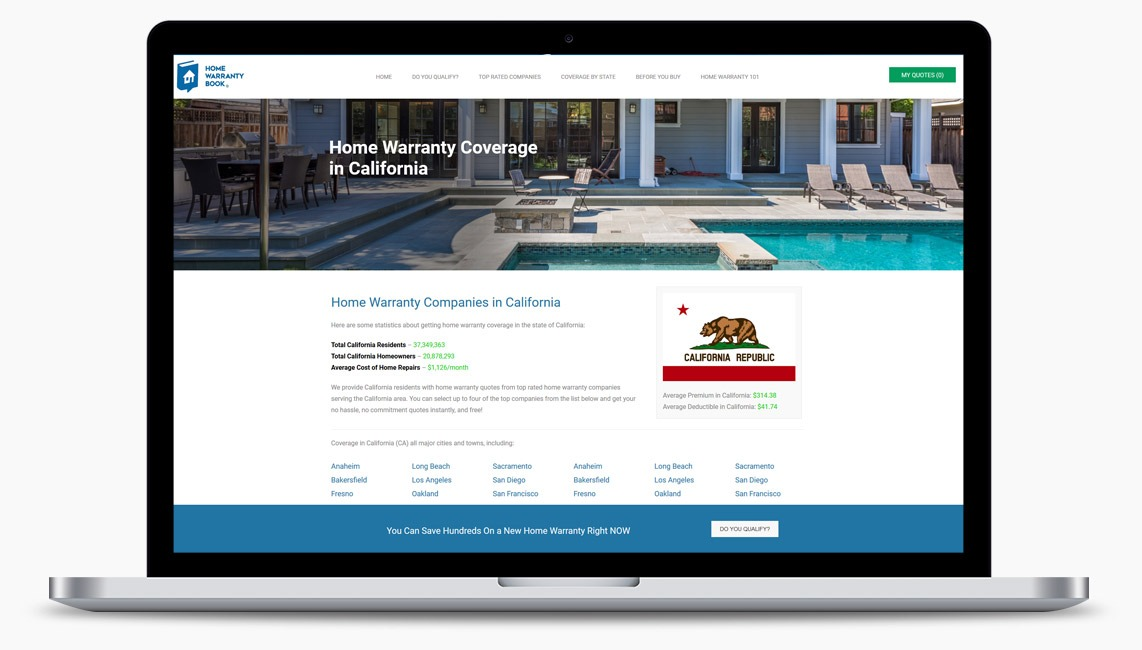 Orange County Home Warranty Web Designer