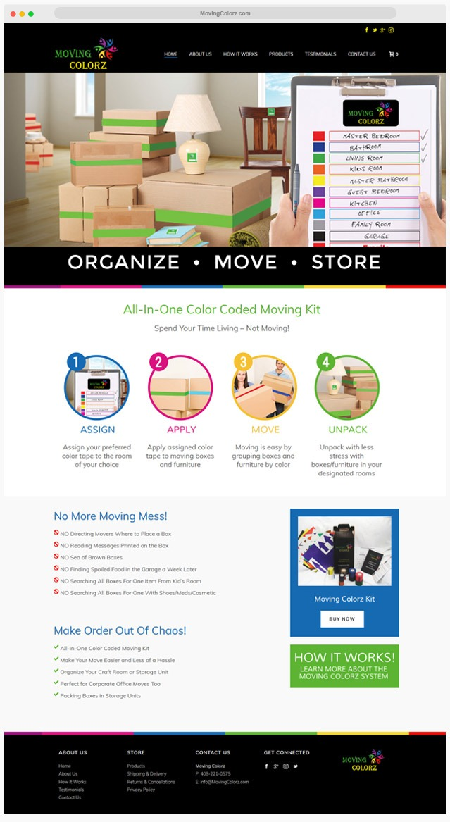 Storage Company Web Designer