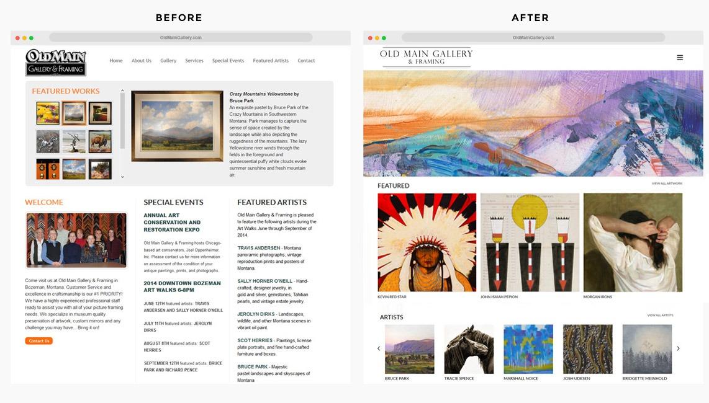 Orange County Gallery Web Designer