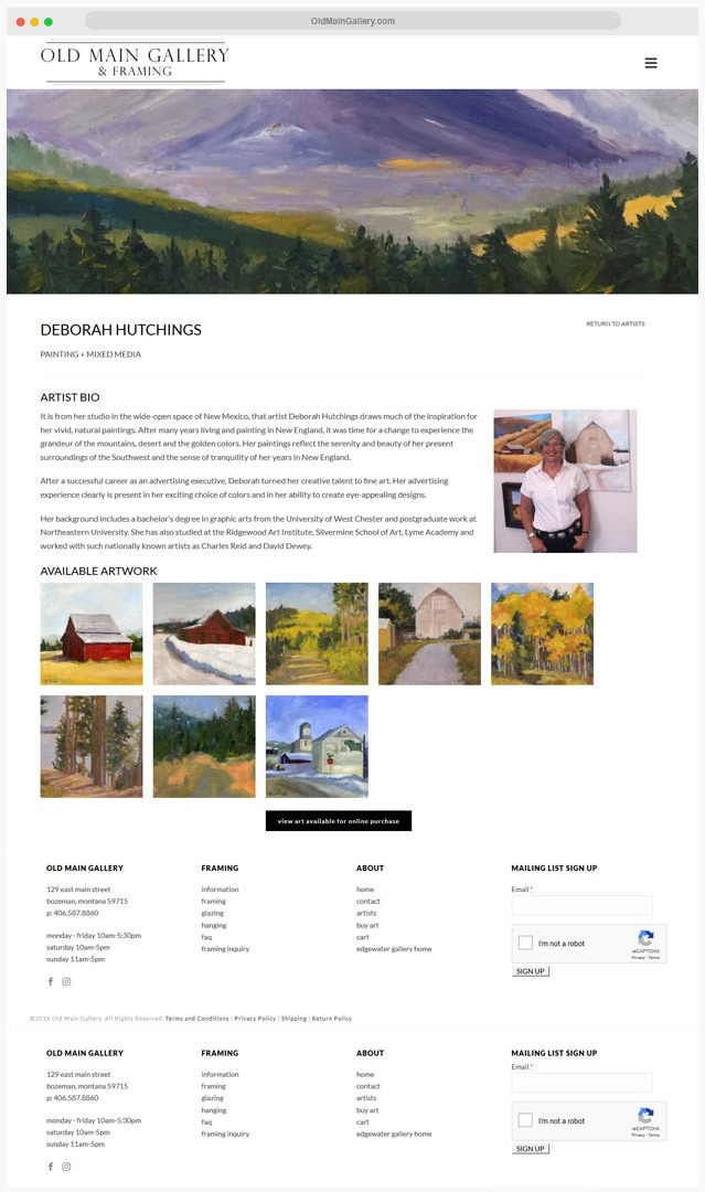 Ventura County Gallery Web Design Company