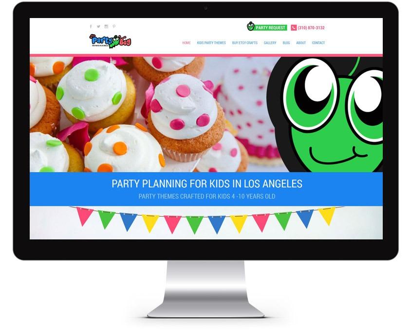 Orange County Party Planning Web Design Company