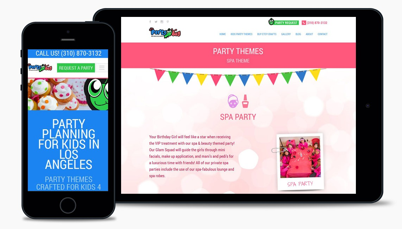 Salad Party Planning Web Design Company