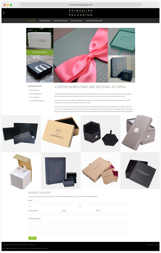 Packaging Website Company