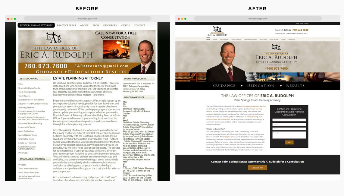 Lake Forest Website Redesign