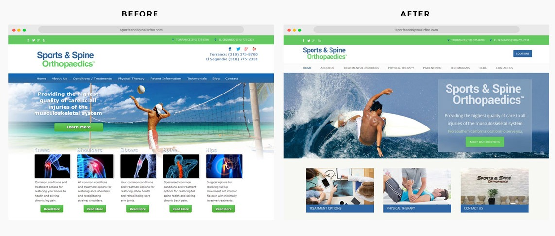 Orange County Sports Medicine Web Designer