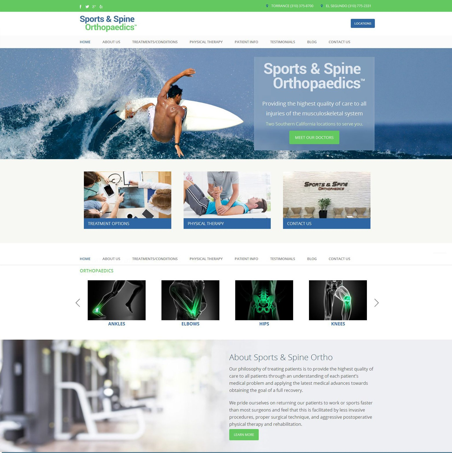 LA Angeles Sports Medicine Web Design Company