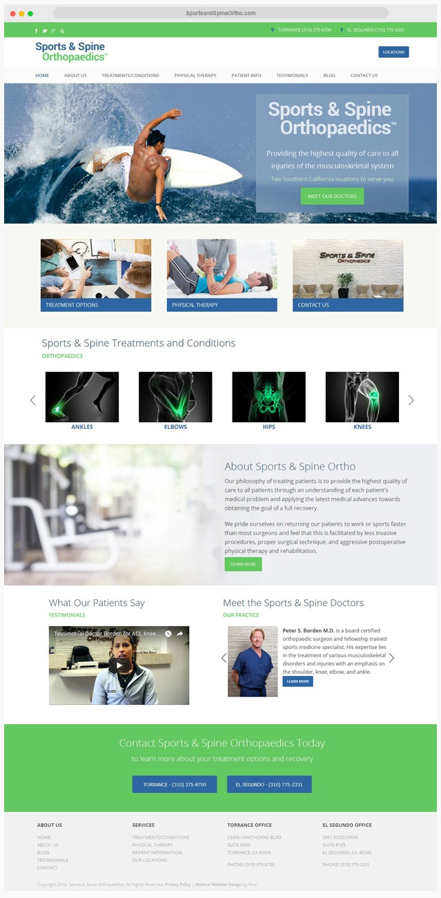 Ventura County Sports Medicine Web Design Company