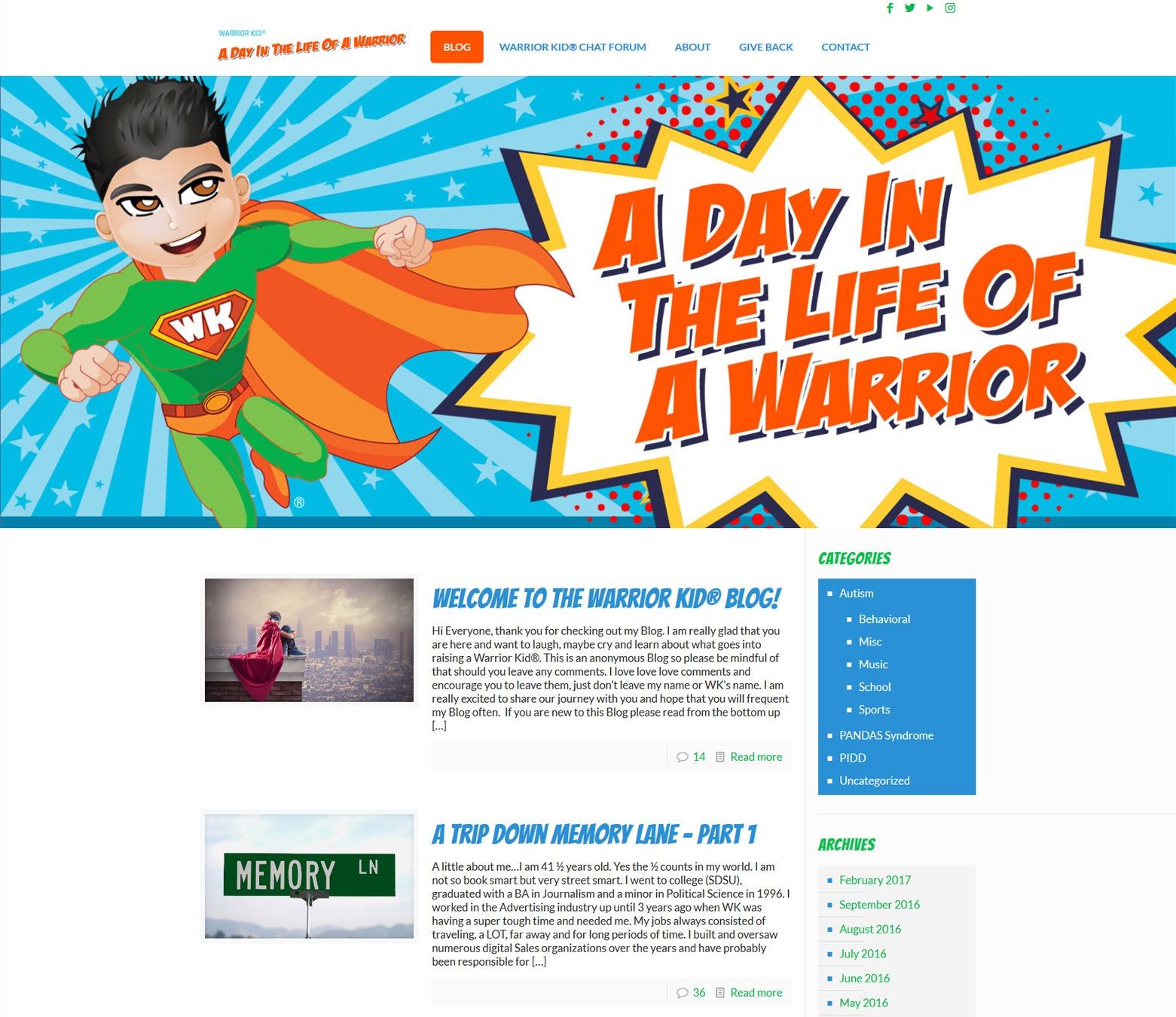 LA Angeles Blog Web Design Company
