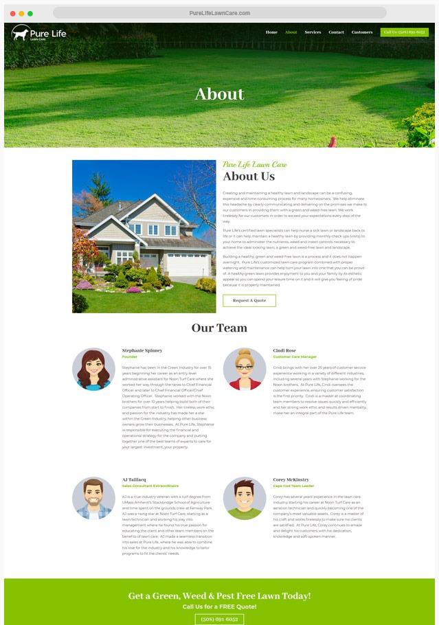 Lawn Care Website Company