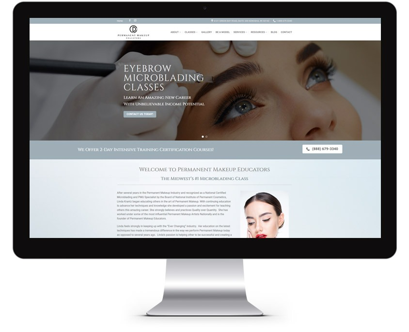 Orange County Microblading Web Design Company