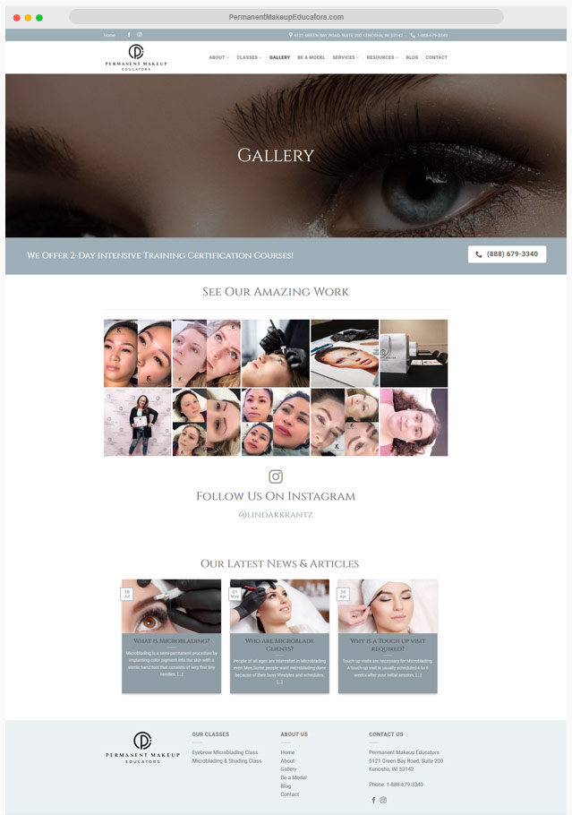 Microblading Website Company