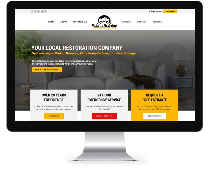 Restoration Company Web Designer