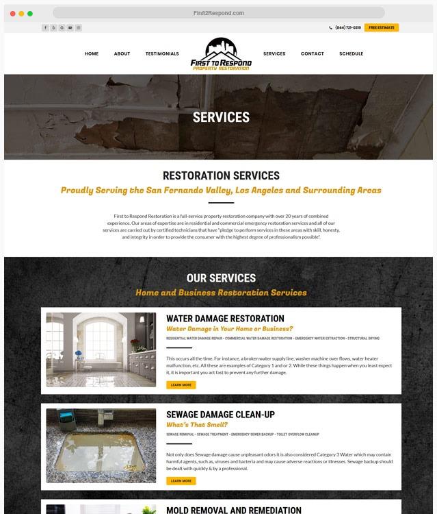 Restoration Website Designer