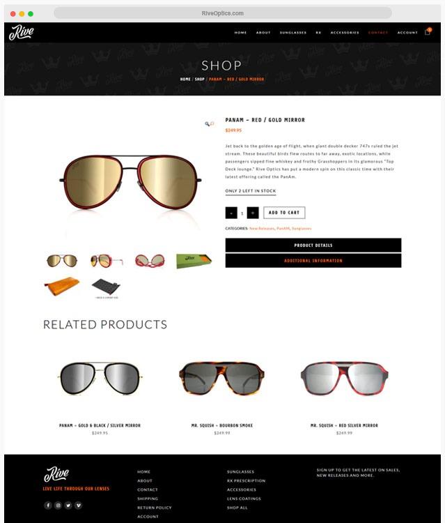 Sunglasses Web Designer