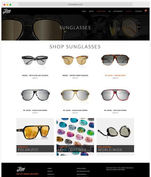 Sunglasses WordPress Web Site