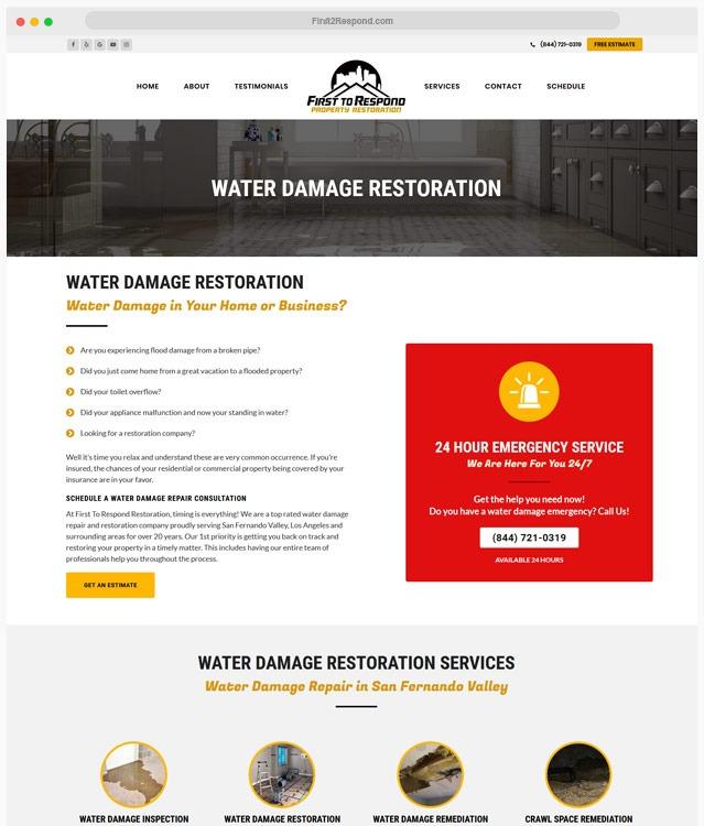Water Damage Web Design Company